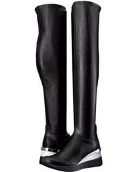 7189b202fe9 MICHAEL Michael Kors - Ace Stretch High (black Stretch Nappa vachetta)  Women s Boots