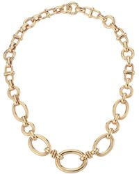 Roberto Coin - 18k Graduated Oval Link Necklace (rose) Necklace - Lyst