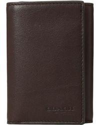 COACH - Trifold Wallet In Sport Calf - Lyst