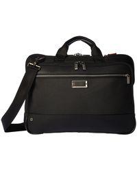 Briggs & Riley - @work Slim Brief (black) Briefcase Bags - Lyst