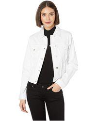 MICHAEL Michael Kors - Frayed Denim Jacket (white) Women's Coat - Lyst