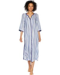 Donna Karan - Striped Maxi Sleepshirt (frosted Denim Stripe) Women's Pajama - Lyst