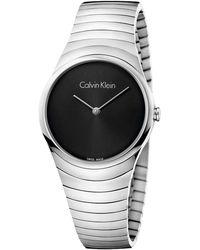 Calvin Klein - Whirl Watch - K8a23141 (black/silver) Watches - Lyst