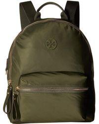Tory Burch - Tilda Nylon Zip Backpack (black) Backpack Bags - Lyst b4ca028466