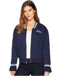 Juicy Couture - Quilted Terry Bomber Jacket - Lyst