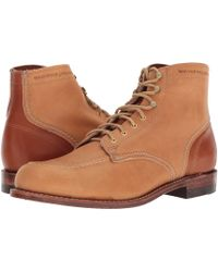 Wolverine - 1000 Mile 1940 Boot (tan Leather) Men's Lace-up Boots - Lyst