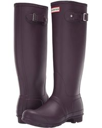 HUNTER - Original Tall Rain Boots (thundercloud) Women's Rain Boots - Lyst