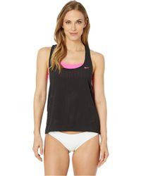 6c0382c77bc77 Nike - Sport Mesh Layered Tankini (monsoon Blue) Women's Swimwear - Lyst