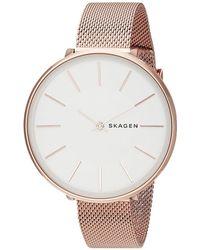 Skagen - Karolina - Skw2688 (rose Gold) Watches - Lyst