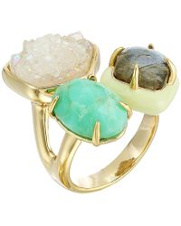 Alexis Bittar - Druzy Stone Cluster Cocktail Ring (10k Gold) Ring - Lyst