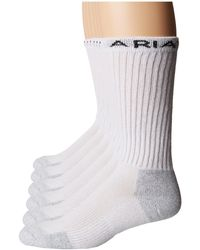Ariat - Crew Socks 6-pack (white) Men's Crew Cut Socks Shoes - Lyst