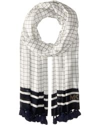 MICHAEL Michael Kors | Windowpane Printed Oblong With Tassels | Lyst
