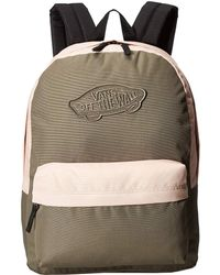 836c1810fcc Lyst - Vans Realm Backpack (satin Floral) Backpack Bags in Black