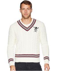 Polo Ralph Lauren - Cotton Cashmere Cricket Cable Sweater (cream/black Multi) Men's Sweater - Lyst