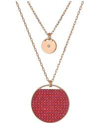 Swarovski - Ginger Layered Pendant Necklace (pink) Necklace - Lyst