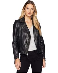 Scully - Rachelle Studded Ladies Saturday Night Ladies Leather Jacket (black) Women's Coat - Lyst