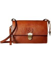 Patricia Nash - Lanza Crossbody Organizer (tan) Cross Body Handbags - Lyst