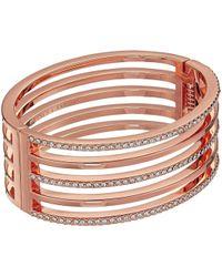 Vince Camuto | Crystal Pave And Metal Hinge Bangle Bracelet | Lyst