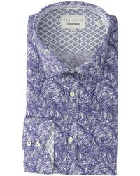 Ted Baker - Messera Endurance Dress Shirt (navy) Men's Clothing - Lyst