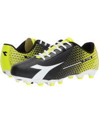 Diadora - 7-tri Mg14 (black white flourescent Yellow) Men s Soccer 061666c84