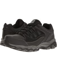 Skechers Work - Holdredge (black Action Leather/trim) Men's Shoes - Lyst