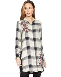 Tolani - Alana Plaid Tunic Dress (grey) Women's Dress - Lyst