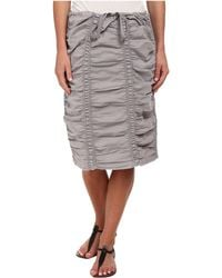 XCVI - Double Shirred Panel Knee Length Skirt - Lyst