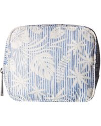 Tommy Bahama - Up In The Air Cosmetic W/ Eye Mask (seersucker Floral) Cosmetic Case - Lyst