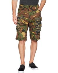G-Star RAW - Rovic Relaxed 1/2 Shorts (sahara/dark Nuri Green All Over) Men's Shorts - Lyst