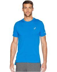 Asics - Seamless Short Sleeve (race Blue Heather) Men's Workout - Lyst