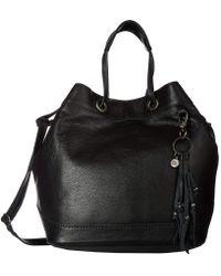 The Sak - Castella Leather Drawstring Bucket (slate Croco) Handbags - Lyst