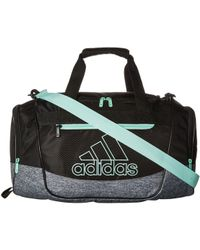 4bbf8ea22448 adidas - Defender Iii Small Duffel (shock Pink black white) Duffel Bags