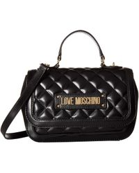Love Moschino - Shiny Quilted Handbag (pink) Cross Body Handbags - Lyst