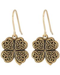 ALEX AND ANI - Four Leaf Clover Hook Earrings - Lyst