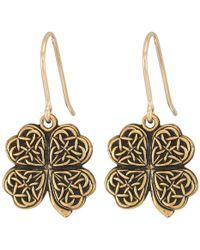 ALEX AND ANI - Four Leaf Clover Hook Earrings (rafaelian Silver) Earring - Lyst