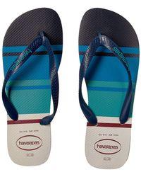 e781912a3348fe Havaianas - Top Nautical Flip-flops (white) Men s Sandals - Lyst