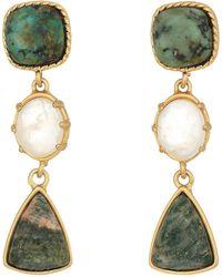 Lauren by Ralph Lauren - Linear Stone Drop Earrings - Lyst