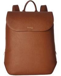 Lipault - Plume Elegance Leather Laptop Medium Backpack (ruby) Backpack Bags - Lyst