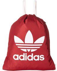 f5dd9566db adidas Originals - Originals Trefoil Sackpack (trace Maroon Pink white) Bags  - Lyst