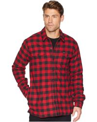 68b14580b6 Dickies - 67 Collection - Flannel Shirt Jacket With Sherpa Lining (rinsed  Blue Buffalo Plaid