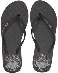 Roxy - Viva Stamp Ii (black/gold) Women's Sandals - Lyst