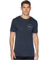 RVCA - Tri Motors Tee (oil Grey) Men's T Shirt - Lyst