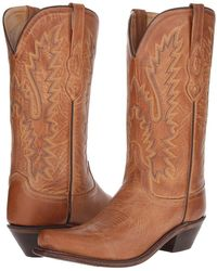 Old West Boots - Lf1529 (tan Canyon) Cowboy Boots - Lyst