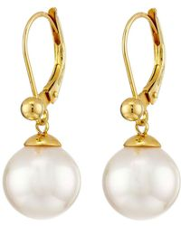 Majorica - 10mm Euro Earrings - Lyst
