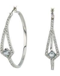 Vince Camuto - Crystal Pave Hoop Earrings (silver) Earring - Lyst