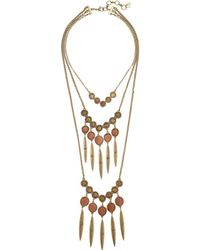 Lucky Brand - Layer Druzy Statement Necklace (gold) Necklace - Lyst