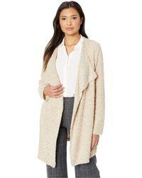 Calvin Klein - Long Flyaway Jacket (blush/heather Latte Combo) Women's Coat - Lyst