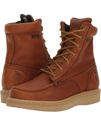 Georgia Boot - 8 Moc Toe Wedge (barracuda Gold) Men's Work Boots - Lyst