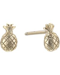 Shashi - Pineapple Stud Earrings (gold) Earring - Lyst