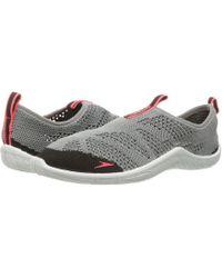 9448cec8d9 Speedo - Surf Knit (frost Grey flame) Women s Slip On Shoes - Lyst